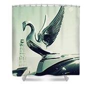 Packard Swan Hood Shower Curtain