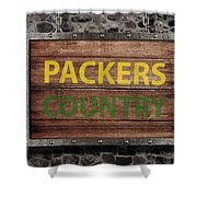 Packers Country Medieval  Shower Curtain