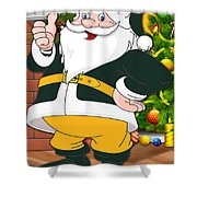 Packers Santa Claus Shower Curtain