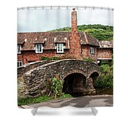 Packhorse Bridge At Allerford Shower Curtain