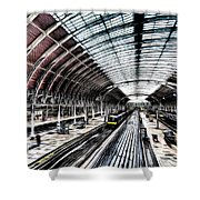 Paddington Station London Sketch Shower Curtain