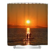 Paddle Boarders Shower Curtain