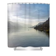Paddle Boarding On The Columbia River Shower Curtain