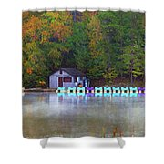 Paddle Boats On The Lake Shower Curtain
