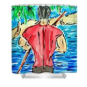 Paddle In Paradise Shower Curtain