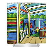 Paddle Taxi - Rum 138 Shower Curtain