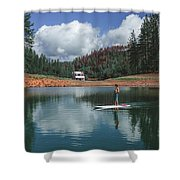 Paddleboarding Shower Curtain