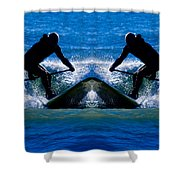 Paddleboarding X 2 Shower Curtain