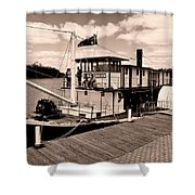 Paddlesteamer Shower Curtain