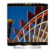 Paddlewheel With Border Shower Curtain