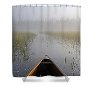 Paddling Into The Fog Shower Curtain