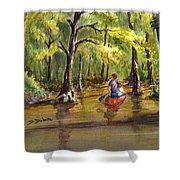 Paddling Into The Swamp Shower Curtain