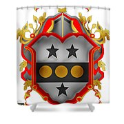 Paddock Family Crest Shower Curtain