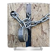 Padlock And Chain Shower Curtain