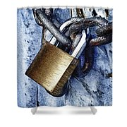 Padlock On A Chain Shower Curtain