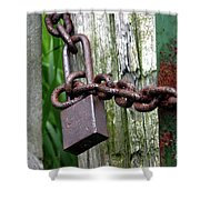 Padlocked Gate Shower Curtain