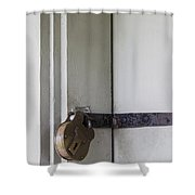 Padlocked Shower Curtain