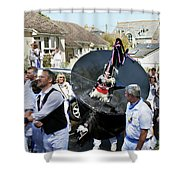 Padstow Blue Oss And Supporters Shower Curtain