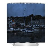 Padstow Harbor At Night Shower Curtain