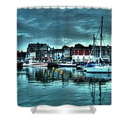 Padstow Harbour At Dusk Shower Curtain