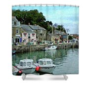 Padstow Harbour - P4a16021 Shower Curtain