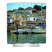Padstow Harbour Slipway - P4a16023 Shower Curtain
