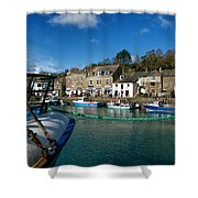 Padstow Harbour  Shower Curtain
