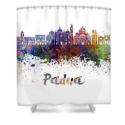 Padua Skyline In Watercolor Shower Curtain