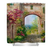 Paese In Toscana - Italy Shower Curtain