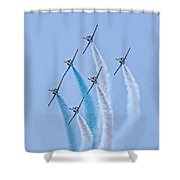 Paf Shedilaerobatic Team Formation Flight Shower Curtain