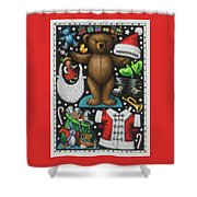 Page 1 Of 2 Teddy Bear Santa Claus Paper Doll Shower Curtain