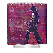 Page In Pink Shower Curtain