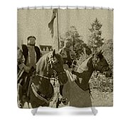 Pageantry In Sepia Shower Curtain