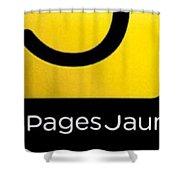 Pages Jaunes Shower Curtain