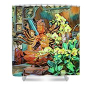 Pagoda Altar Shower Curtain