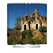 Pagoda In Ruins Shower Curtain