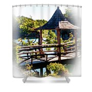Pagoda Over The Lake Shower Curtain