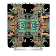 Pagoda Tower Becomes Chinese Lantern 1 Chinatown Chicago Shower Curtain by Marianne Dow