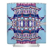 Pagoda Tower Becomes Chinese Lantern 2 Chinatown Chicago Shower Curtain by Marianne Dow