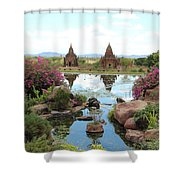 Temples Shower Curtain