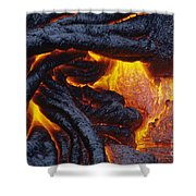 Pahoehoe Lava Texture Shower Curtain