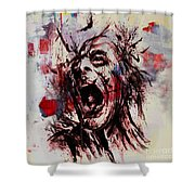 Pain 02 Shower Curtain
