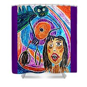 Pain Monster Shower Curtain