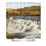 Paine River Waterfall Shower Curtain