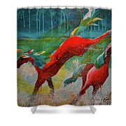 Pained Ponies - The Kick Shower Curtain