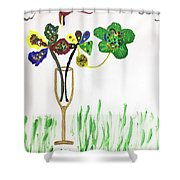 Paint By Wine Shower Curtain