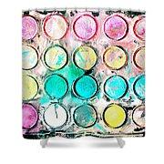 Paint Colors Shower Curtain