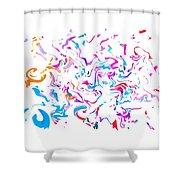 Paint Experiment 033 Shower Curtain