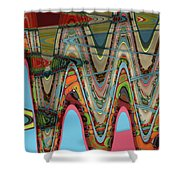 Paint Flow Collision Shower Curtain