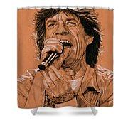 Paint It Black Shower Curtain